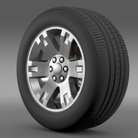 gmc yukon xl wheel 3d c4d