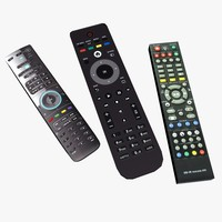 3d model generic remote controls
