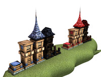 3d tower defence model