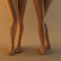 realistic female legs feet 3d max