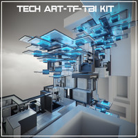 3d model tech art-tf-tb2 kit abstract art