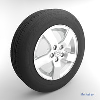 3d model toyota wheel