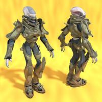 alien soldier 3d model
