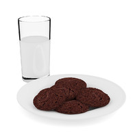 Chocolate Cookies with Milk