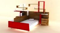 bed book 3d model