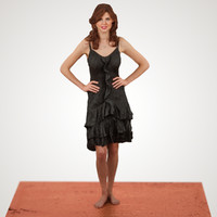 black dress girl 3d obj