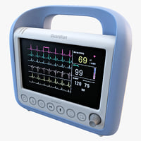3ds max bedside patient monitor