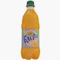 Fanta Orange Zero Bottle