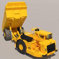 3d 60 underground mining truck