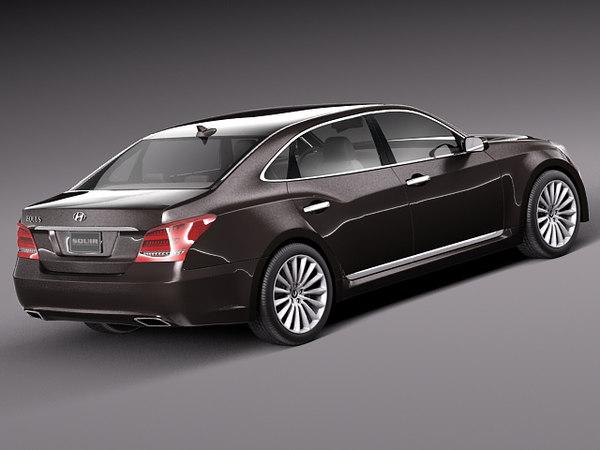 2014 sedan luxury 3d model