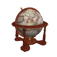 3d antique globe maps sphere