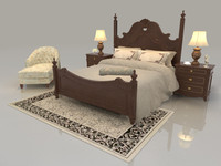 3ds max bed set mattress bedroom