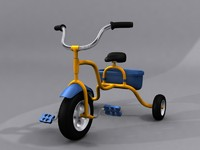 3d children tricycle child model