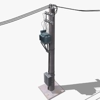 3d model electric pole