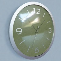 3d wall clock modern mirror