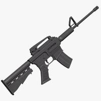 assault rifle 3d obj