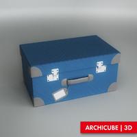 3d model kids suitcase