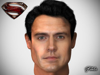 3d henry cavill head man