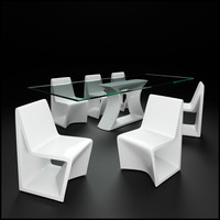 3d vondom rest dining table model