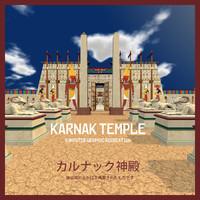 karnak temple 3d model