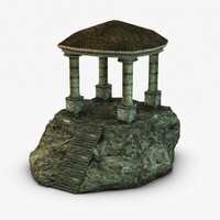 Ancient temple on a rock