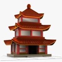 3ds cartoon chinese house