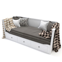 IKEA HEMNES Day-bed frame, white