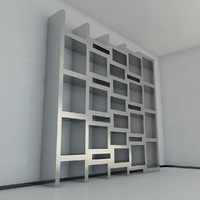 9 bookshelf 2011 3d 3ds