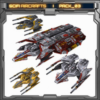 model scifi aircrafts pack 03