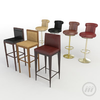 bar seating chairs 3d model
