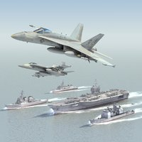 3d model aircraft carrier strike group