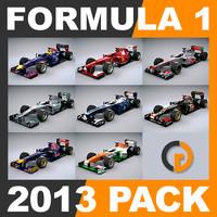 3d model formula 1 2013 pack