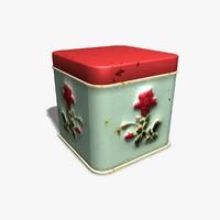 3d tin rose model