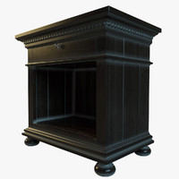 ST.James Open Nightstand in black