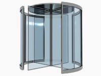 Revolving Door Low Poly