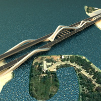 sheikh zayed bridge 3d max