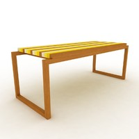 3d table strips model