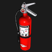 completed extinguisher - 3d obj