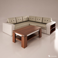 sofa set 3d 3ds