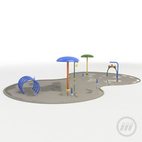 water splash pad 3d max