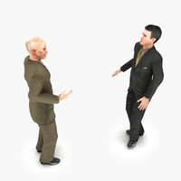 talking humans animation 3d model