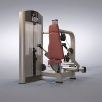 triceps press machine 3d model
