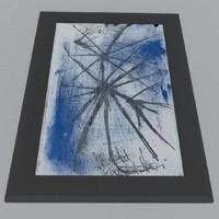 3d model picture blue blu