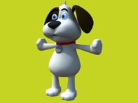 cartoon dog with accessories