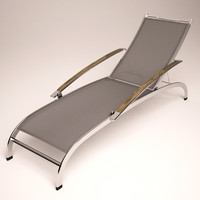 outdoor lounge chair 3d 3ds