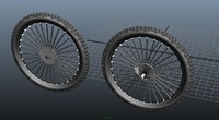 front and rear mountain bike wheel