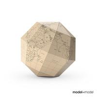 free geografia paper globe 3d model