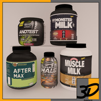 3d model of supplement pack 5