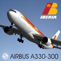 3d model of airbus a330-300 iberia