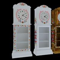 3dsmax wood floor clock little